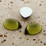Olivine Jewel - 13x8.5mm. Pear Domed Cabochons - Lots of 144