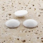 White Opaque Multi Faceted - 20mm Round Cabochons - Lots of 72