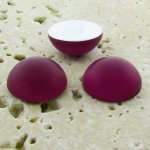 Fuchsia Matte Frosted - 13mm Round Domed Cabochons - Lots of 144