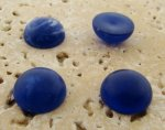 13mm. LAPIS MATTE MARBLE ROUND CABOCHONS - Lot of 48