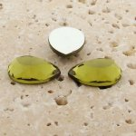 Olivine Jewel Faceted - 25x18mm. Pear Cabochons - Lots of 72