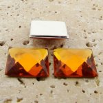 Madeira Topaz Jewel Faceted - 20mm Square Cabochons - Lot of 144