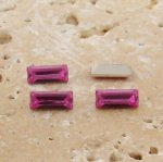 Rose Jewel - 7x3mm. Rectangle Baguette Gem Jewels - Lots of 144