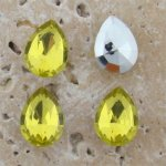 Lime Jonquil Jewel -15x11mm Pear Faceted Gem Jewels - Lot of 144