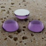 Light Amethyst Jewel - 35mm. Round Domed Cabochons - Lots of 12