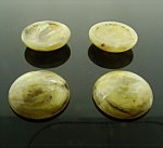 18mm. OLIVE GREEN SHINY MARBLE ROUND CABOCHONS - Lot of 48