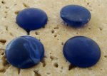 15mm. LAPIS MATTE MARBLE ROUND CABOCHONS - Lot of 48