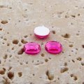 Pink Jewel Faceted - 7mm. Round Cabochons - Lot of 50