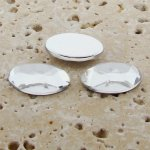 Crystal Jewel Faceted - 25x18mm. Oval Cabochons - Lots of 72