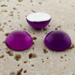 Amethyst Jewel - 35mm. Round Domed Cabochons - Lots of 12
