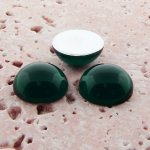 Emerald Jewel - 35mm. Round Domed Cabochons - Lots of 12
