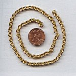 CABLE BRASS 5MM. VINTAGE CHAIN - PRICED PER FOOT