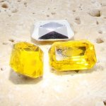 Jonquil Jewel - 25x18mm. Octagon Faceted Gem Jewels - Lots of 72