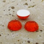 Orange Jewel Baroque Domed - 18mm. Cabochons - Lots of 144
