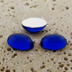 Sapphire Jewel - 25x18mm. Oval Domed Cabochons - Lots of 72