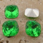 Peridot Jewel -12x12mm Square Cushion Faceted Jewel -Lot of 144