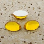 Jonquil Jewel - 25x18mm. Oval Domed Cabochons - Lots of 72