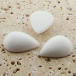 White Opaque - 13x8.5mm. Pear Domed Cabochons - Lots of 144