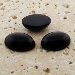 Jet Opaque - 18x13mm. Oval Domed Cabochons - Lots of 144