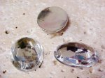Crystal Multi Faceted - 40x30mm. Oval Cabochons - Lots of 12