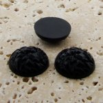 Jet Opaque Baroque Domed - 18mm. Cabochons - Lots of 144