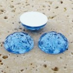 Light Sapphire Jewel Baroque Dome - 18mm Cabochons - Lots of 144