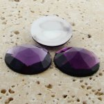 Light Amethyst Multi Faceted - 25mm Round Cabochons - Lot of 72