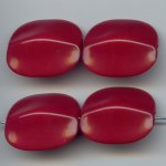 REDDISH BROWN 28X24 FLAT ROUNDED EDGE RECTANGLE BEAD-Lot of 12