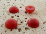 13mm. CORNELIAN MATTE MARBLE ROUND CABOCHONS - Lot of 48