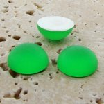 Peridot Matte Frosted - 11mm Round Domed Cabochons - Lots of 144