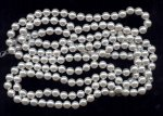 WHITE LUSTER 10MM ROUND HAND KNOTTED JAPANESE PEARL - Lot of 187