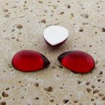 Ruby Jewel - 13x8.5mm. Pear Domed Cabochons - Lots of 144