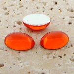 Orange Jewel - 12x10mm. Oval Domed Cabochons - Lots of 144