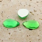 Peridot Jewel Faceted - 25x18mm. Pear Cabochons - Lots of 72