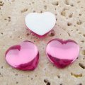 Rose Jewel Smooth - 18mm. Heart Domed Cabochons - Lots of 144
