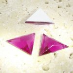 Fuchsia Faceted - 18x18mm. Triangle Cabochons - Lots of 144