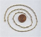 CABLE ELONGATED BRASS 9MM VINTAGE CHAIN - PRICE PER FOOT