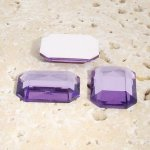 Light Amethyst Faceted - 18x13mm Octagon Cabochons - Lots of 144
