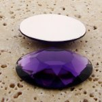 Amethyst Jewel Faceted - 40x30mm. Oval Cabochons - Lot of 4