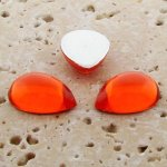 Orange Jewel - 13x8.5mm. Pear Domed Cabochons - Lots of 144