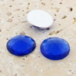Sapphire Jewel Multi Faceted - 13mm Round Cabochons - Lot of 144