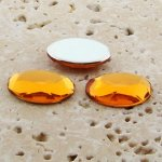 Madeira Topaz Faceted - 25x18mm. Oval Cabochons - Lots of 72