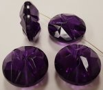 AMETHYST 25X12MM FACETED CARVED FLAT ROUND BEADS - Lots of 12