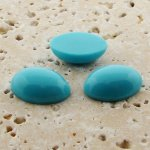 Turquoise Opaque - 12x10mm. Oval Domed Cabochons - Lot of 144