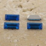Sapphire Jewel - 7x3mm Rectangle Baguette Gem Jewel - Lot of 144