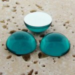 Teal Jewel - 5mm. Round Domed Cabochons - Lots of 144
