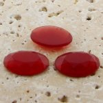 Cornelian Faceted - 25x18mm. Oval Domed Cabochons - Lots of 72