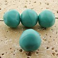 14MM TURQUOISE GLASS BAROQUE ROUND BEADS - Lot of 12
