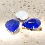 Sapphire Jewel - 25x18mm. Pear Faceted Gem Jewels - Lots of 72