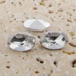 Crystal Jewel - 18x13mm. Oval Faceted Gem Jewels - Lots of 144